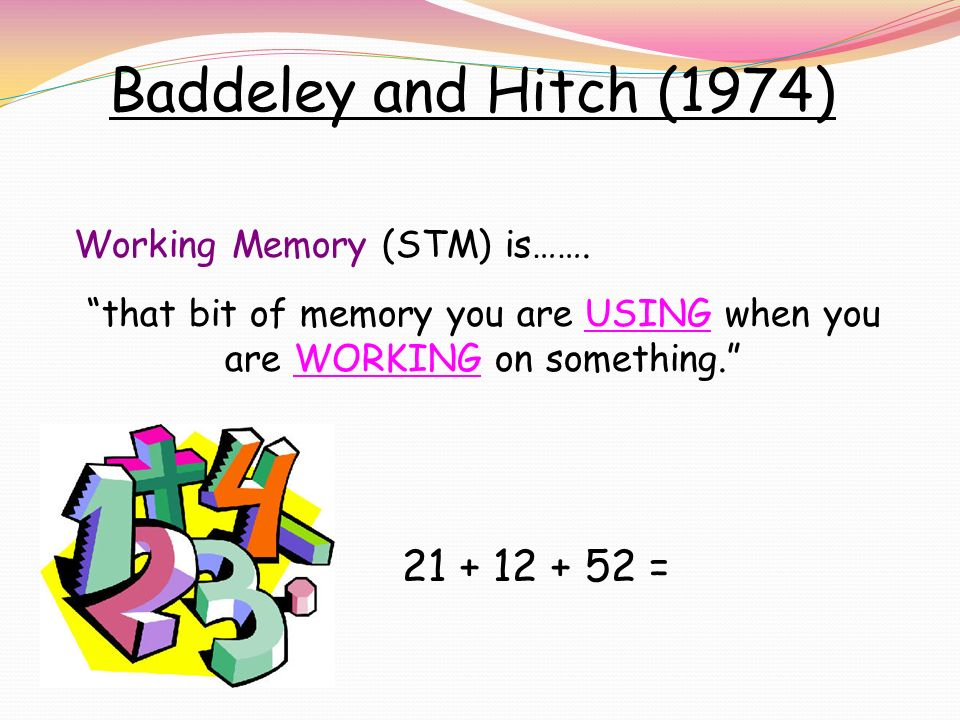 baddeley and hitch 1974 pdf
