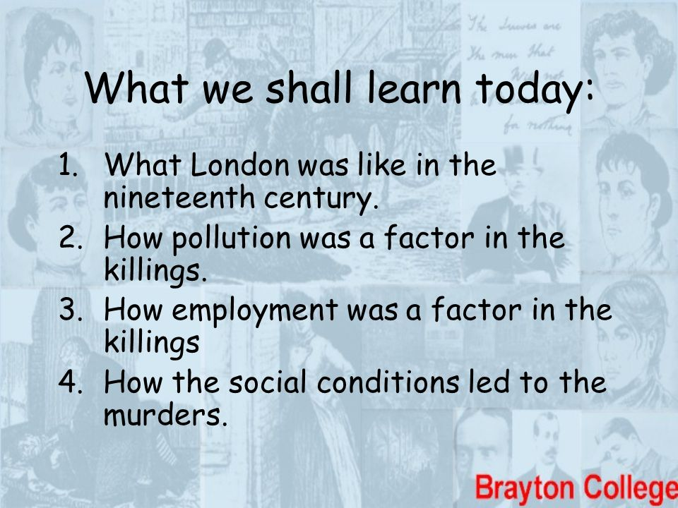 What we shall learn today: