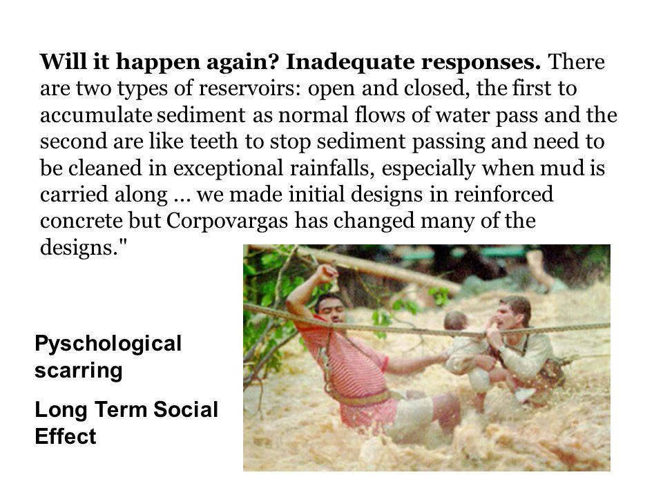 Will it happen again. Inadequate responses