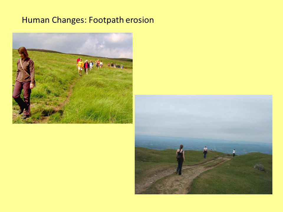 Human Changes: Footpath erosion