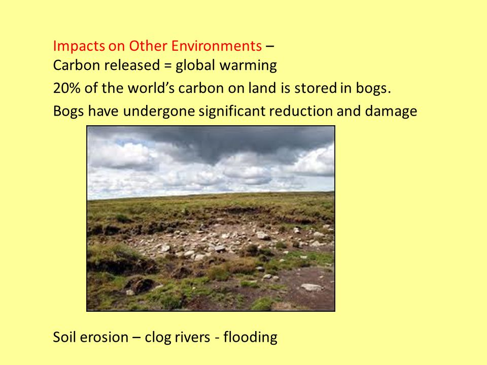 Impacts on Other Environments –