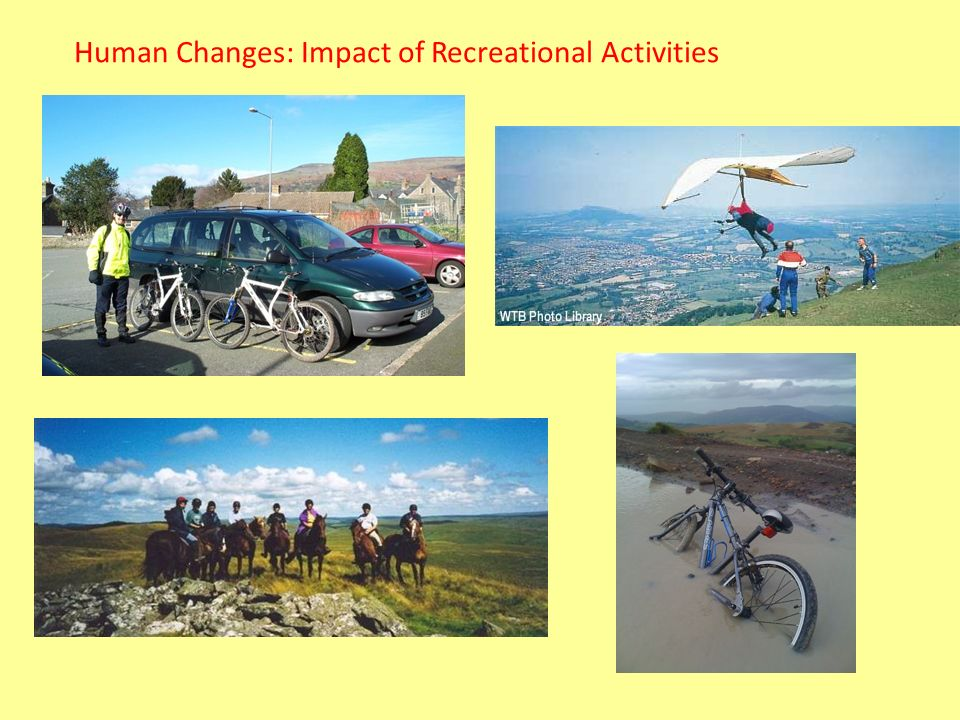 Human Changes: Impact of Recreational Activities