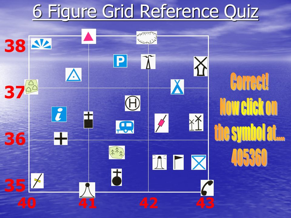 6 Figure Grid Reference Quiz
