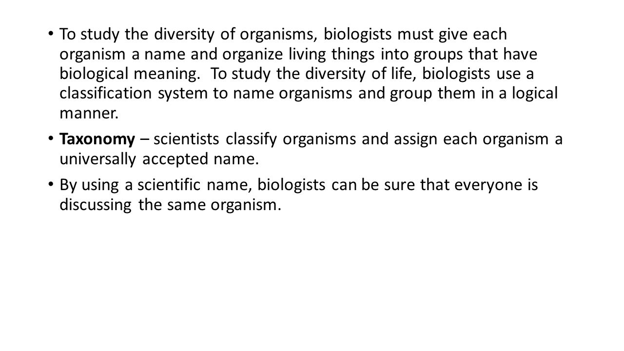 how to get a scientific name using taxonomy