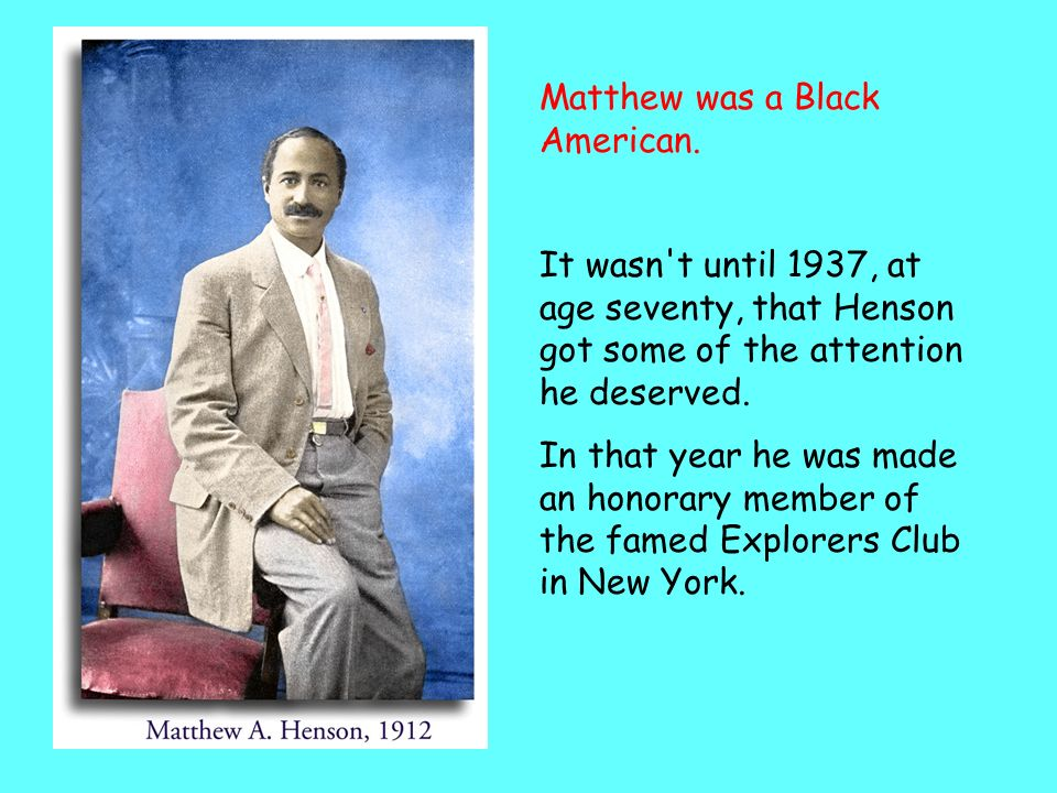 Matthew was a Black American.