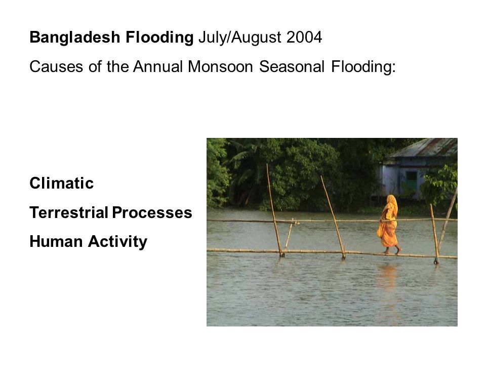 Bangladesh Flooding July/August 2004