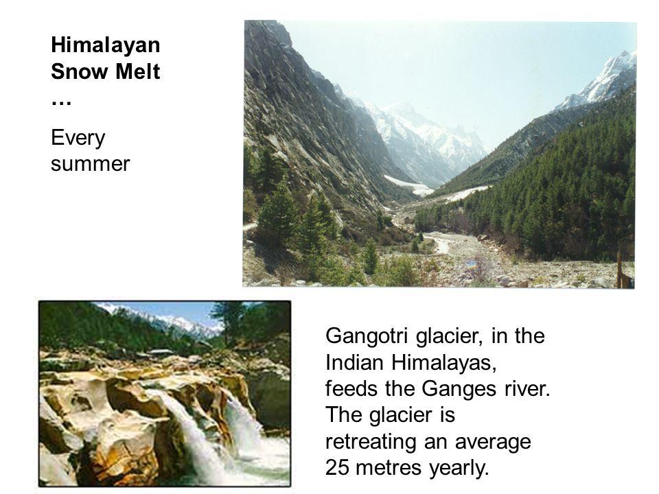 Himalayan Snow Melt … Every summer.