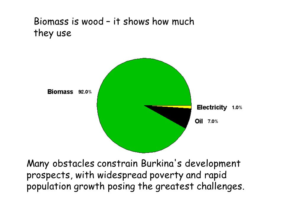 Biomass is wood – it shows how much they use