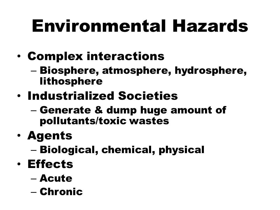 environmental hazards that effect pregnancy Environmental and occupational concerns in pregnancy  environmental and occupational hazards are challenging for the clinician because of the intense concern .