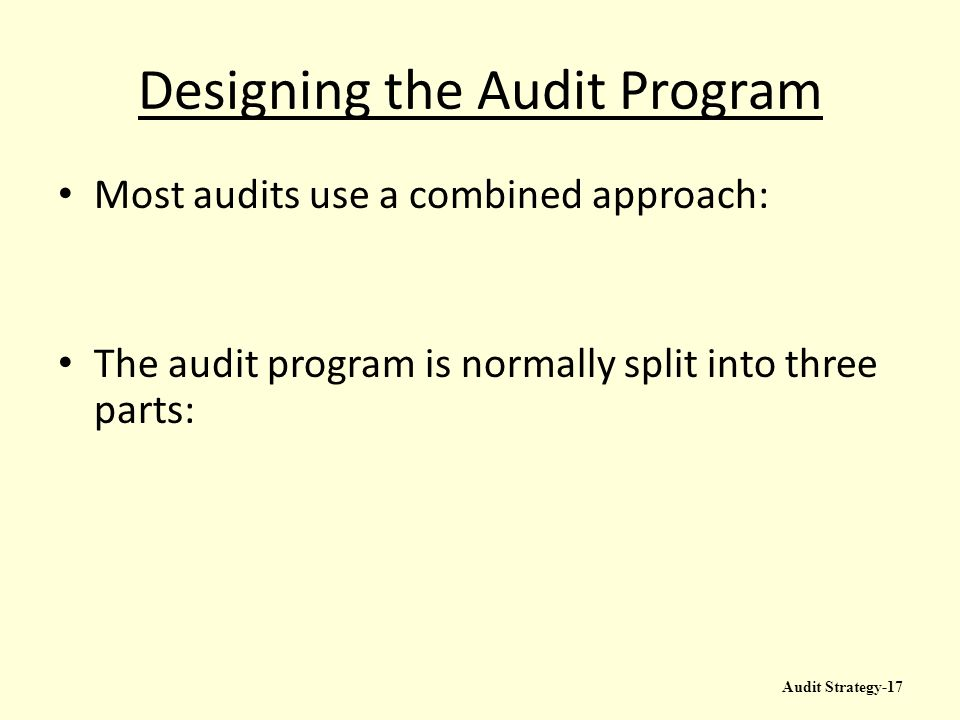 Audit Strategy And Audit Program  Ppt Video Online Download