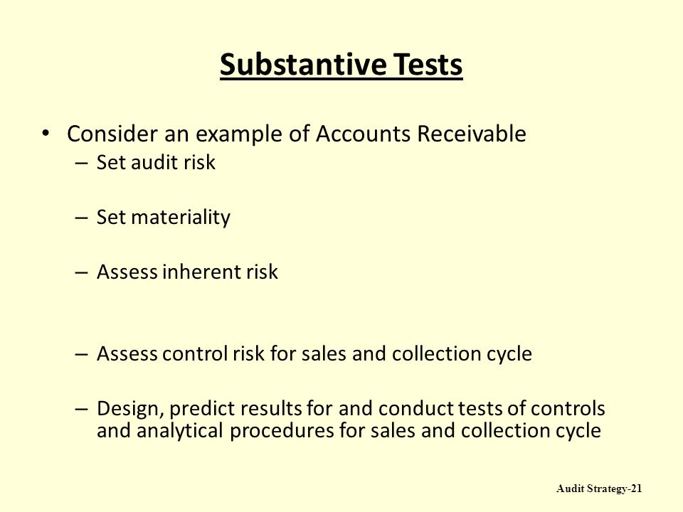 Accounts Receivable And Acceptable Audit Risk Essay