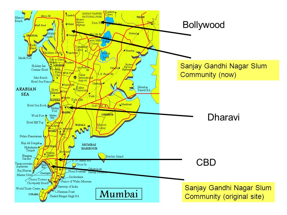 Bollywood Dharavi CBD Sanjay Gandhi Nagar Slum Community (now)