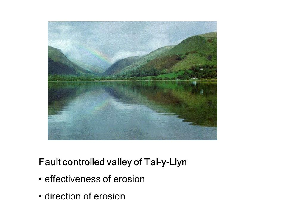 Fault controlled valley of Tal-y-Llyn