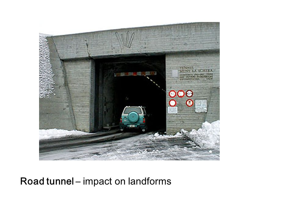 Road tunnel – impact on landforms