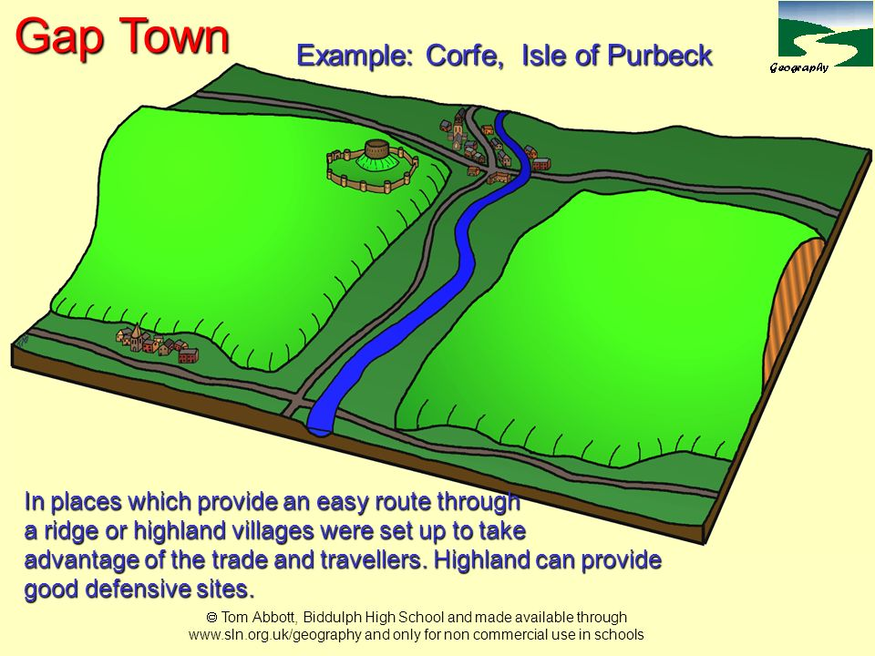Example: Corfe, Isle of Purbeck