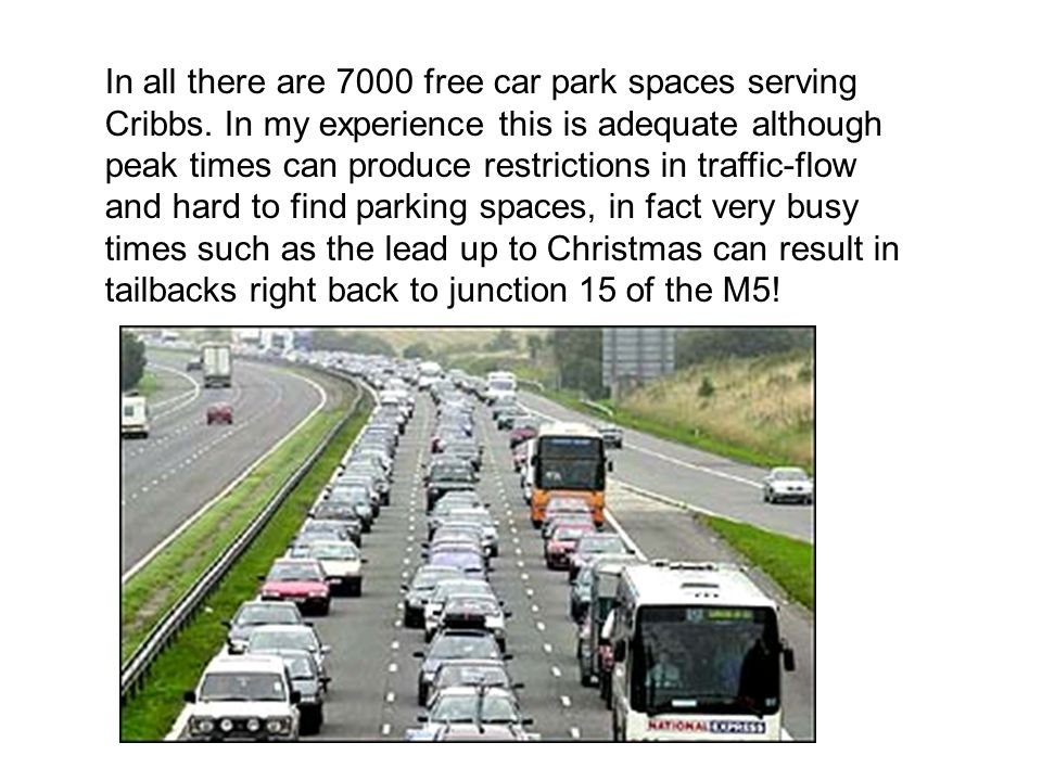 In all there are 7000 free car park spaces serving Cribbs