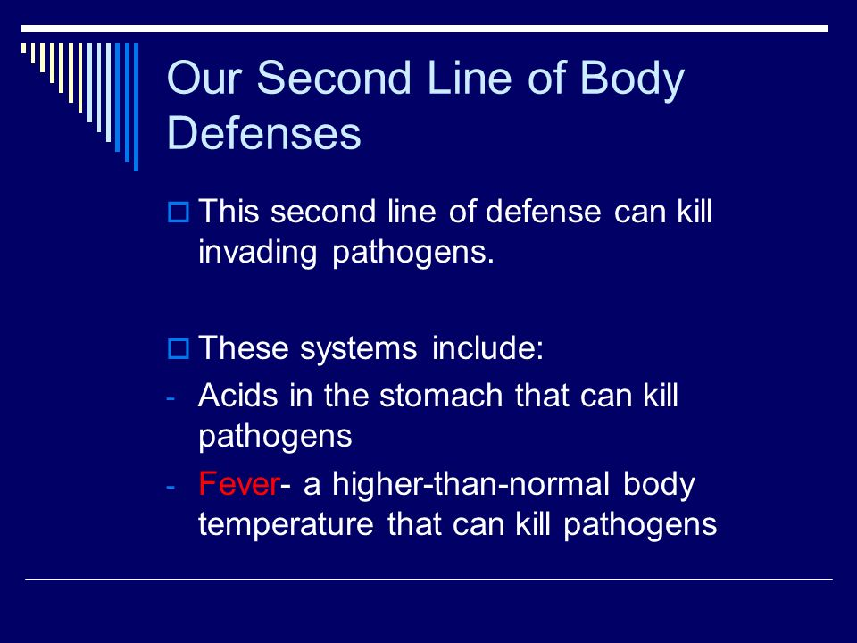 Our Second Line of Body Defenses