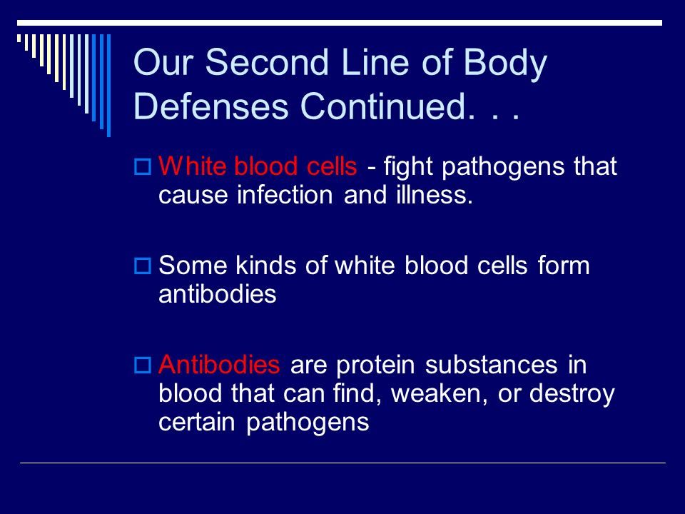 Our Second Line of Body Defenses Continued. . .