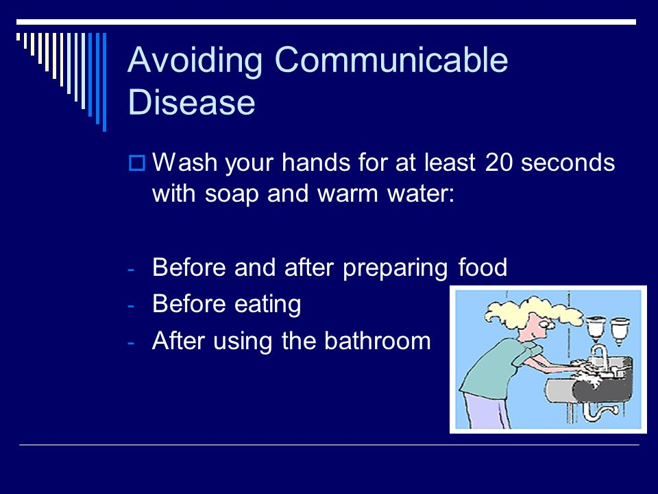 Avoiding Communicable Disease