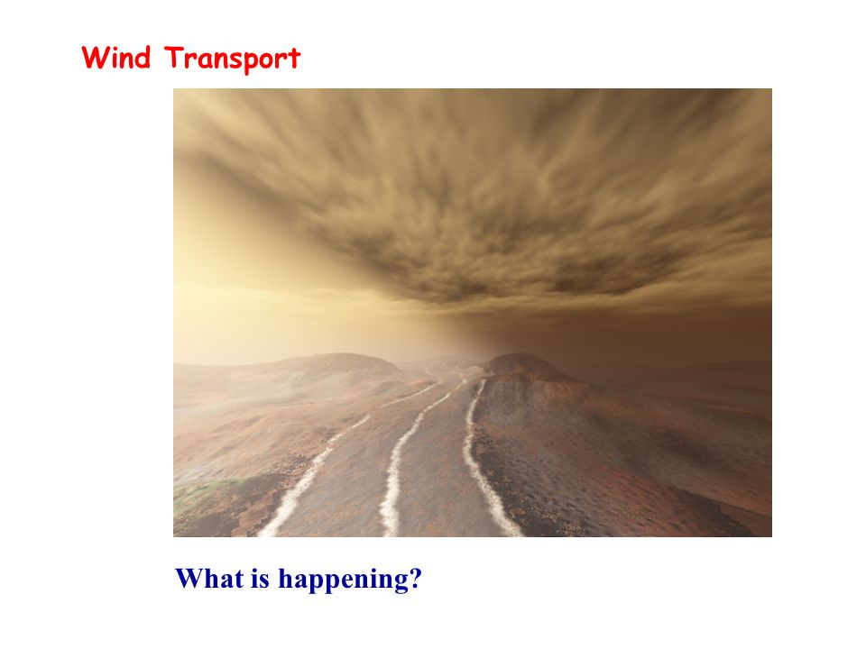Wind Transport What is happening