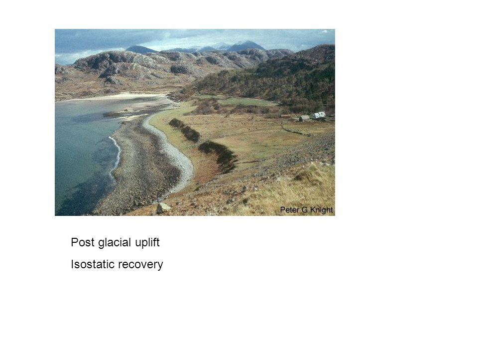 Post glacial uplift Isostatic recovery