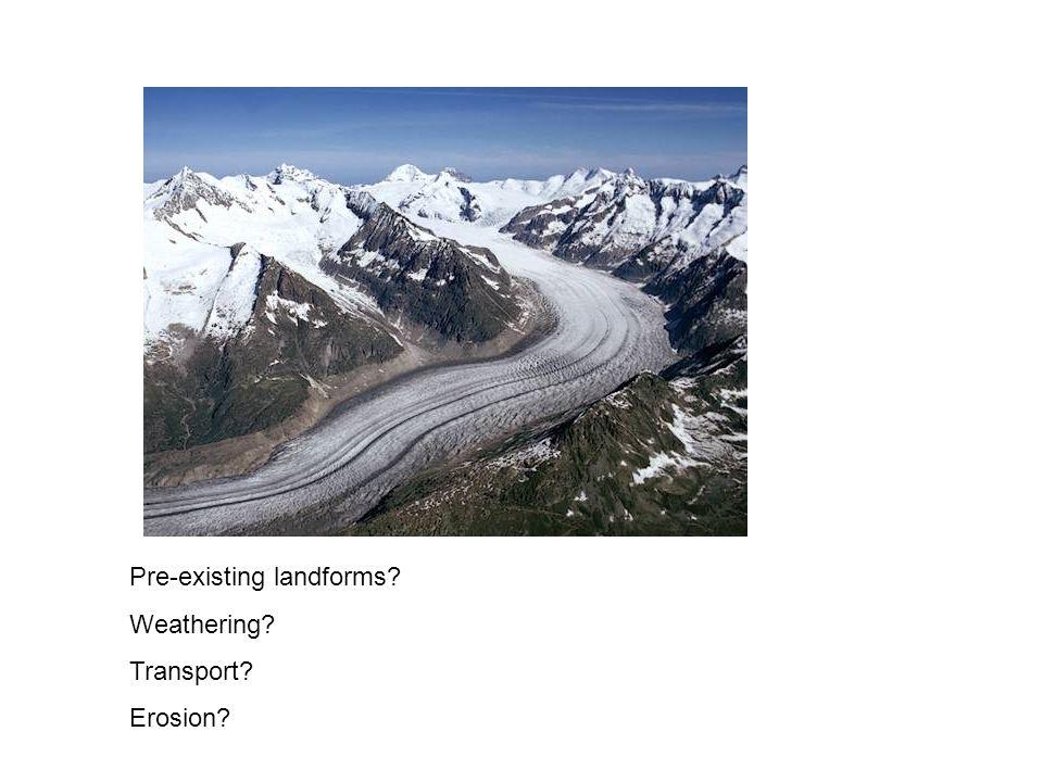 Pre-existing landforms