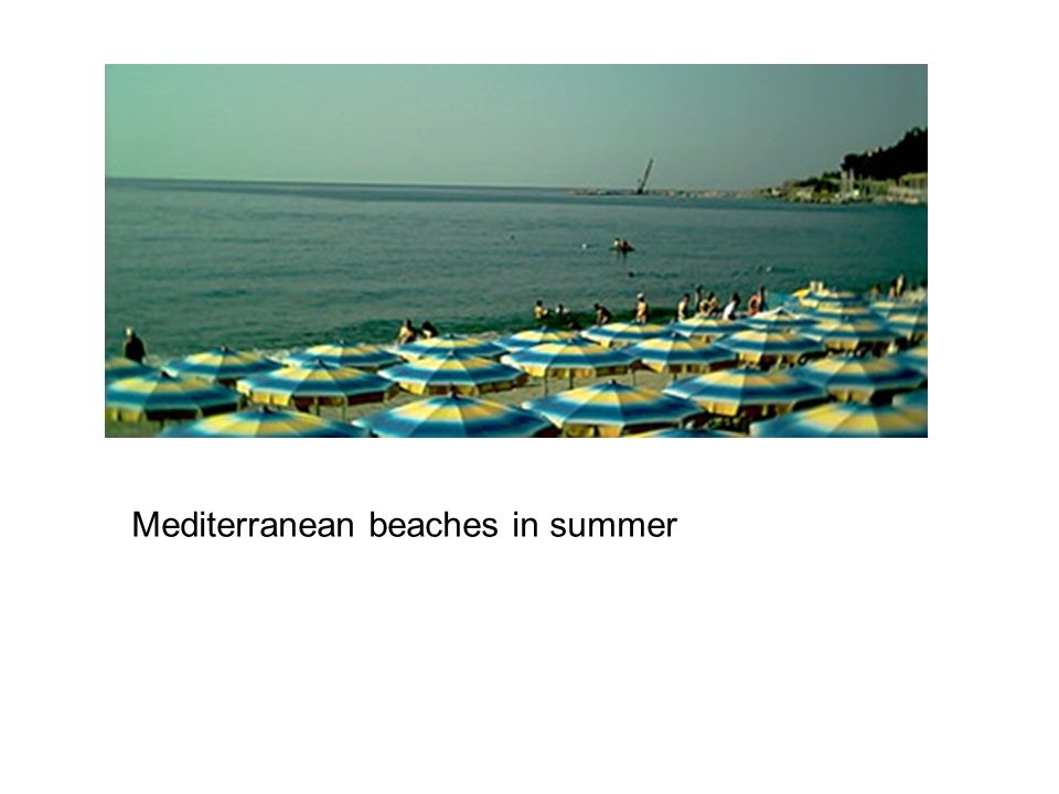 Mediterranean beaches in summer