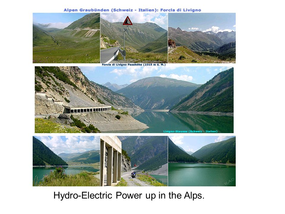 Hydro-Electric Power up in the Alps.