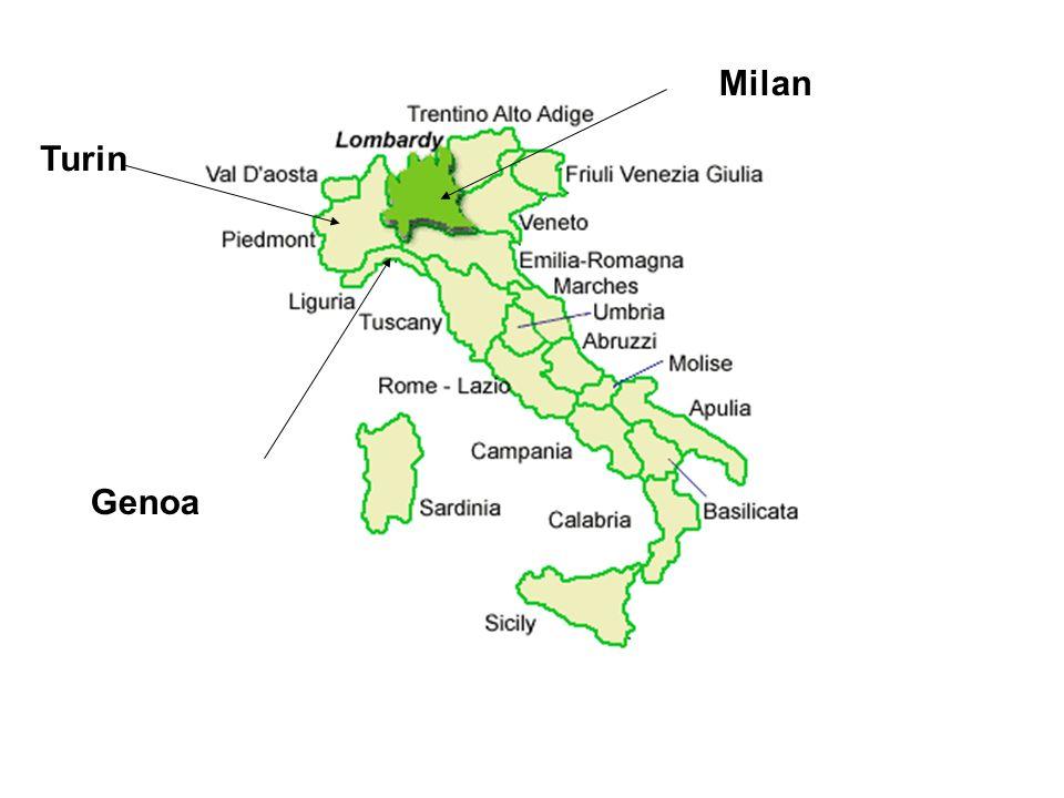 Milan Turin Genoa