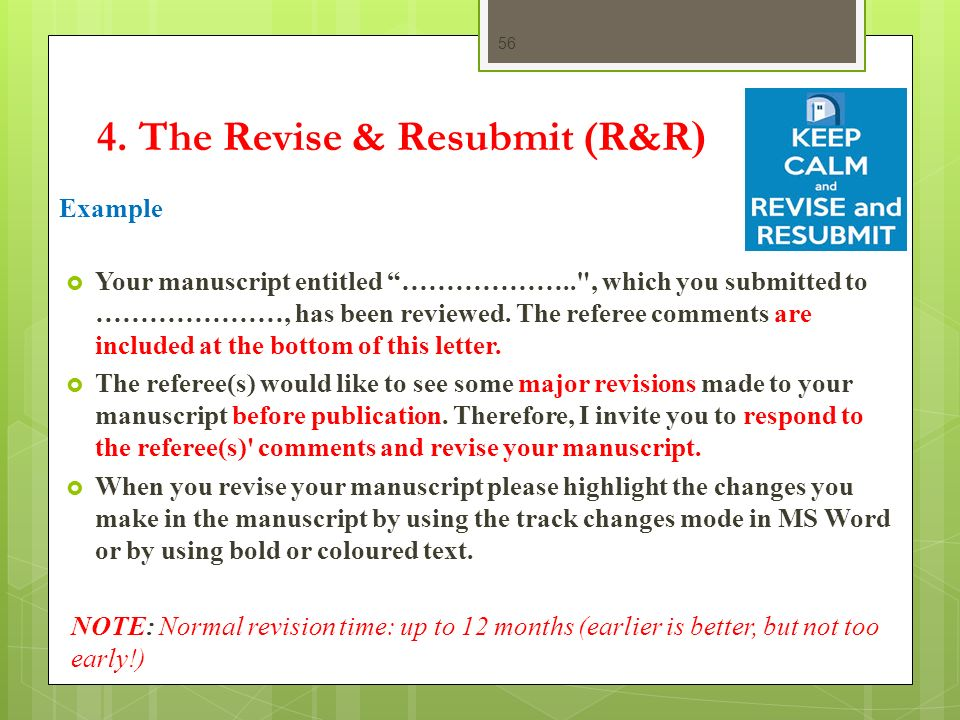 ppt download – Resubmission Cover Letter