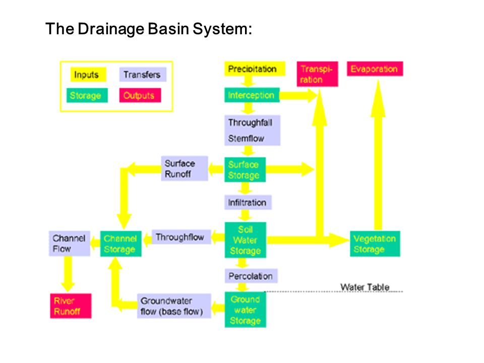 The Drainage Basin System: