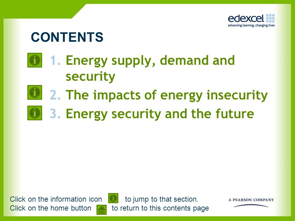 Energy supply, demand and security The impacts of energy insecurity