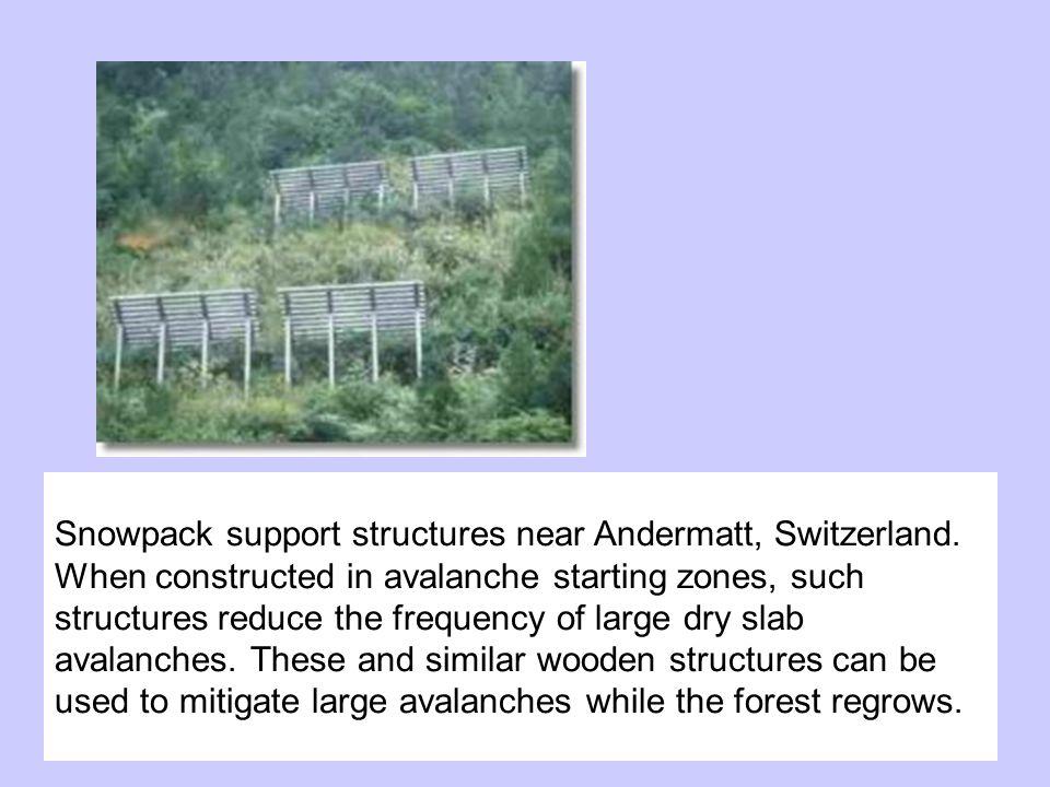 Snowpack support structures near Andermatt, Switzerland