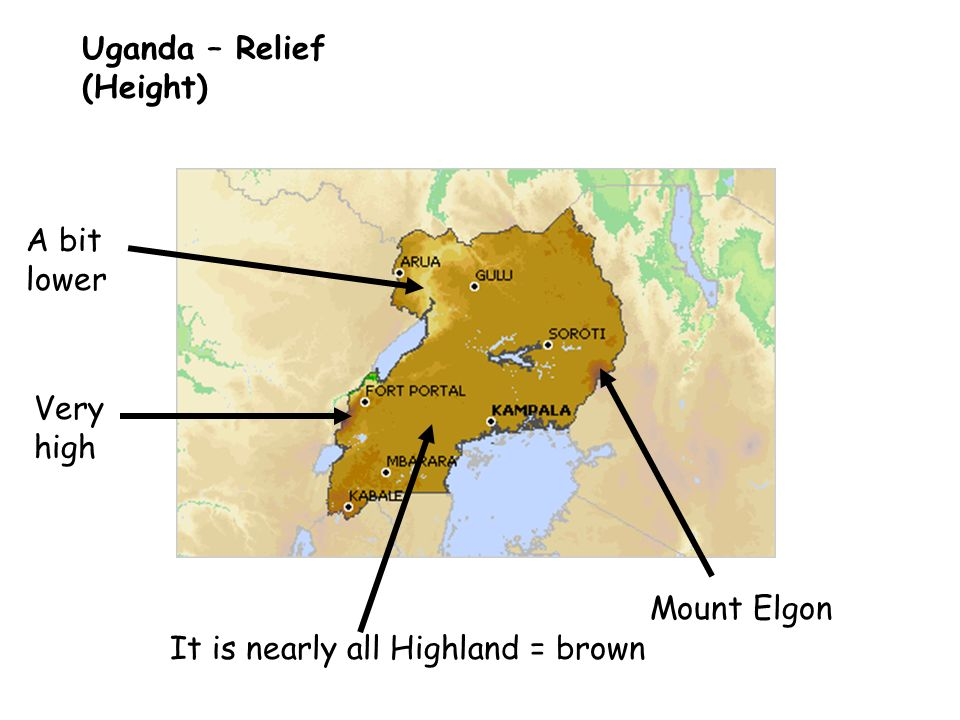 Uganda – Relief (Height)