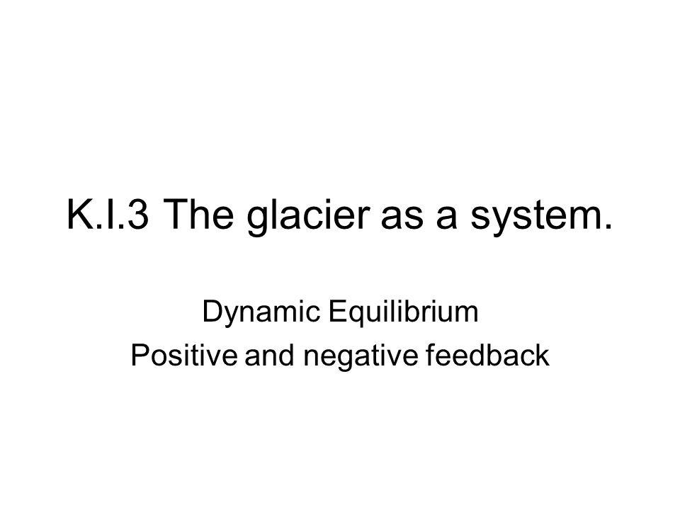 K.I.3 The glacier as a system.