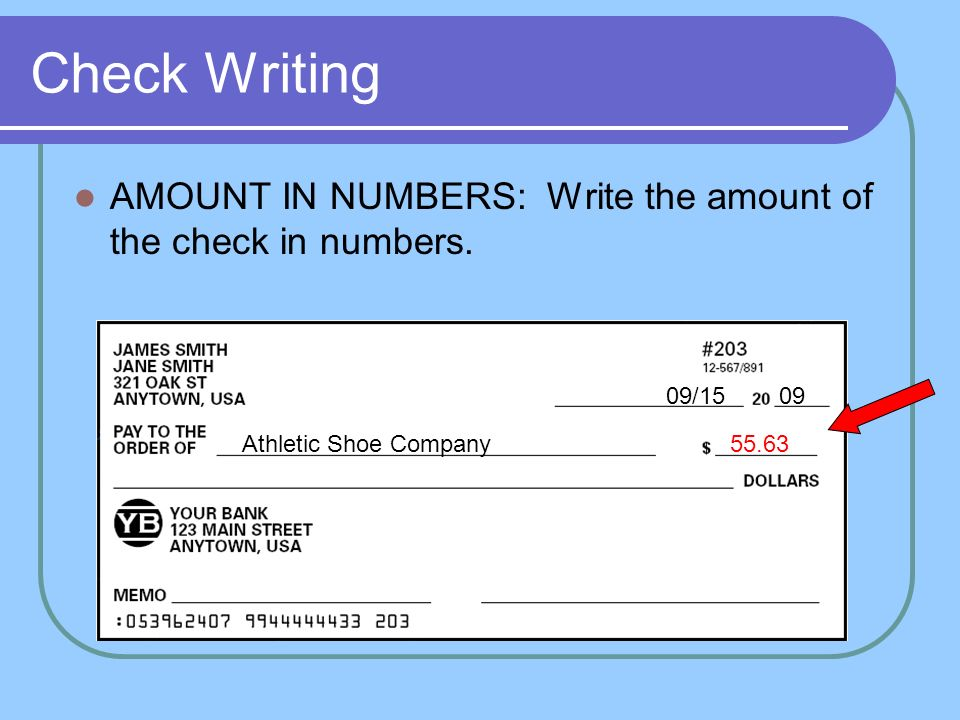 Check writing all about checks ppt video online download 20 check writing amount in numbers ccuart Gallery