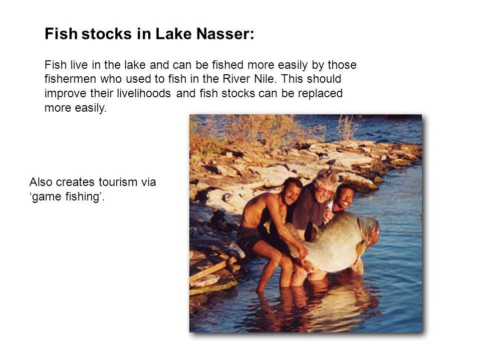 Fish stocks in Lake Nasser: