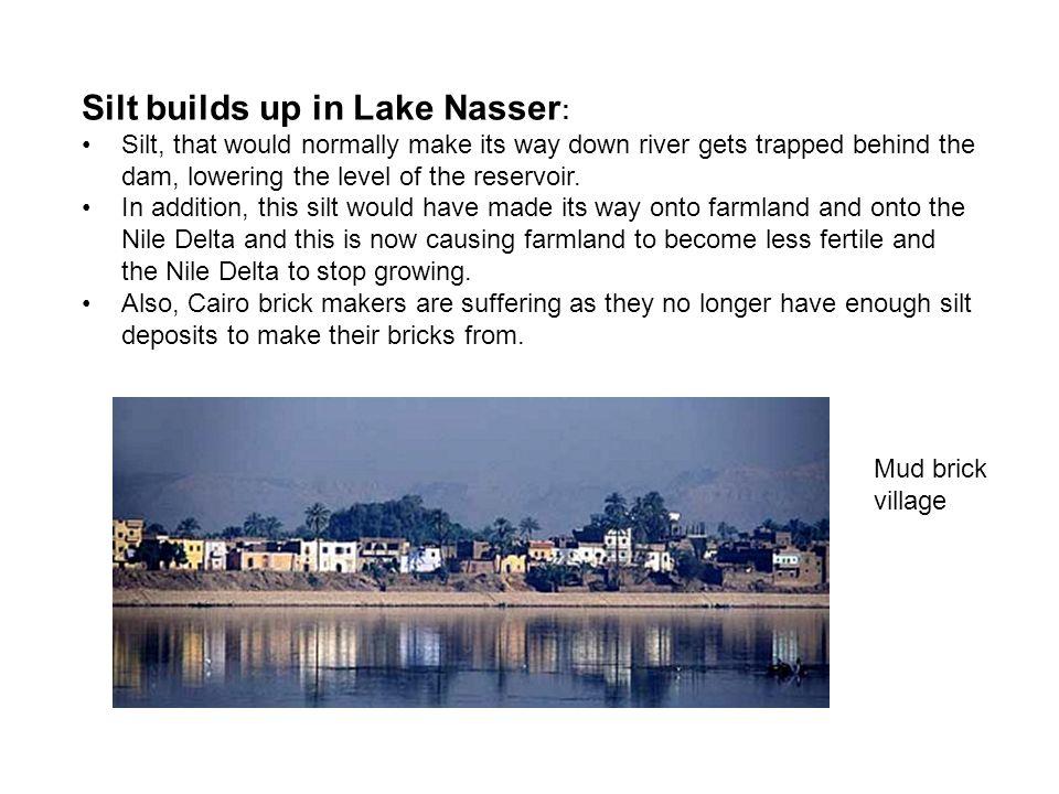 Silt builds up in Lake Nasser: