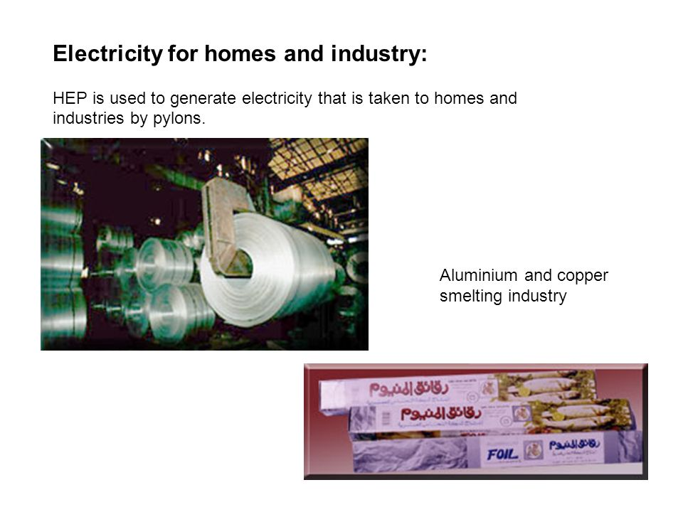 Electricity for homes and industry: