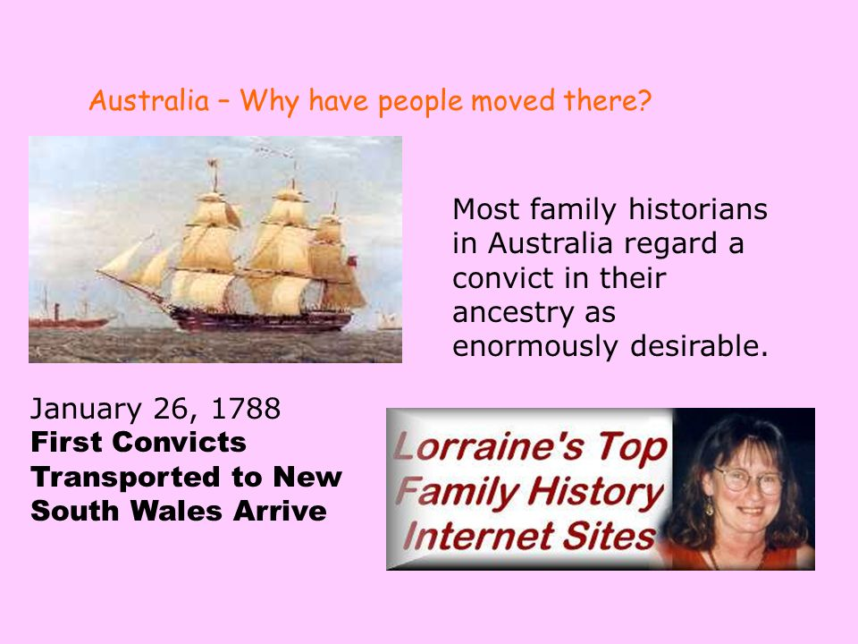 Australia – Why have people moved there