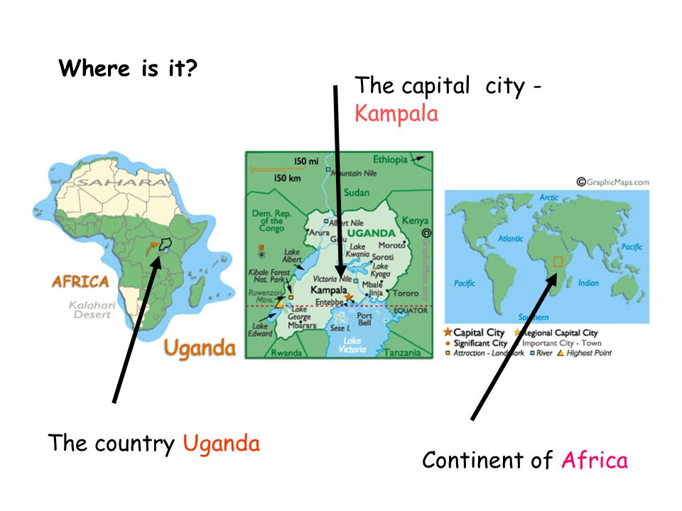 Where is it The capital city - Kampala The country Uganda Continent of Africa