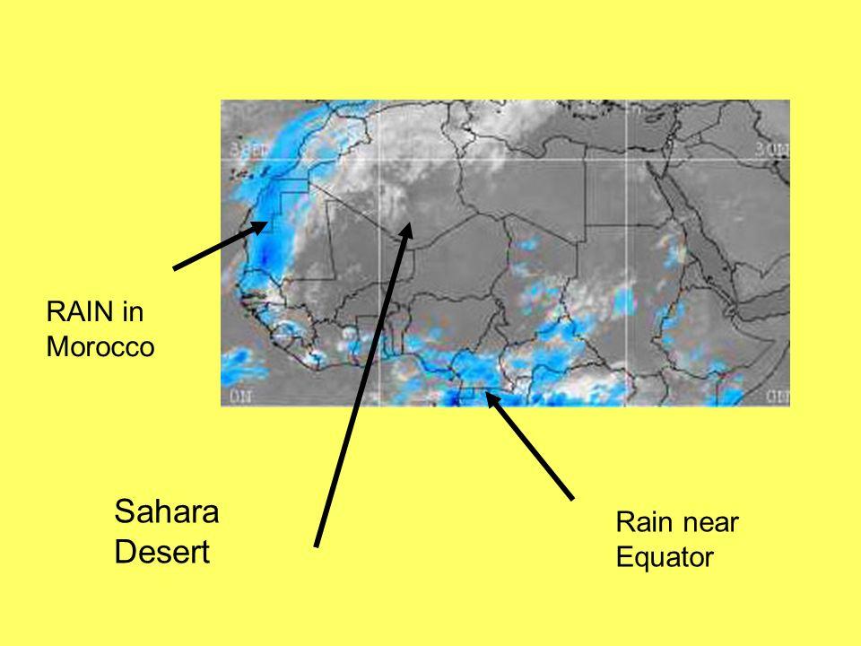 RAIN in Morocco Sahara Desert Rain near Equator
