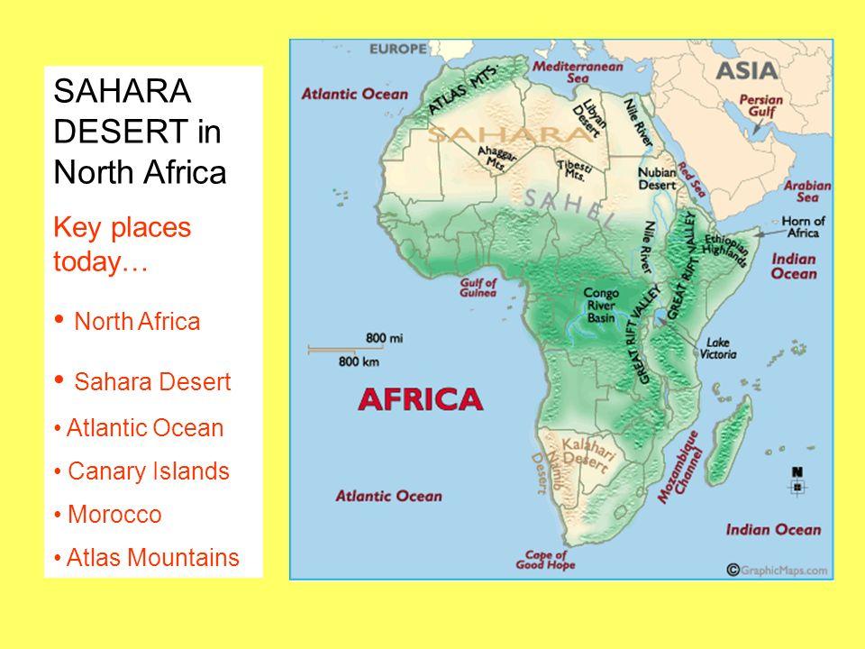 SAHARA DESERT in North Africa