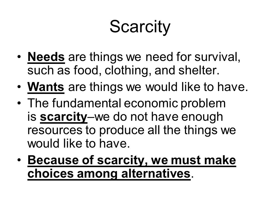problem of scarcity and choice pdf