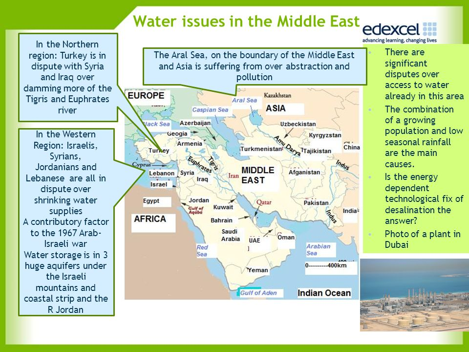 Water issues in the Middle East