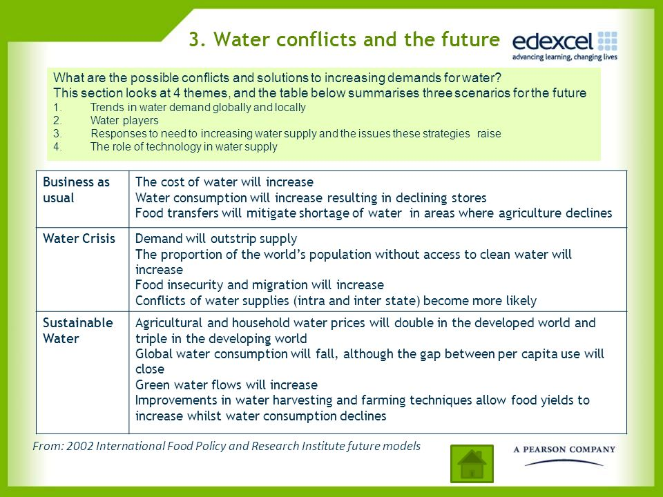 3. Water conflicts and the future