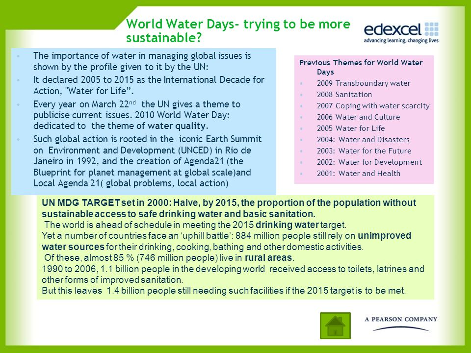 World Water Days- trying to be more sustainable