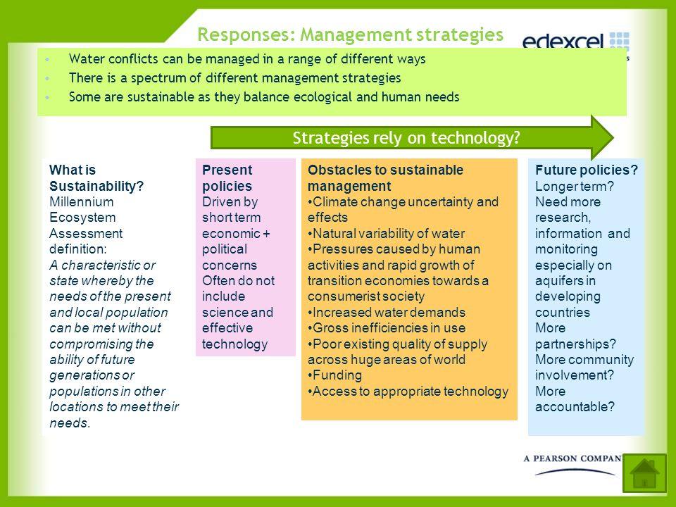 Responses: Management strategies