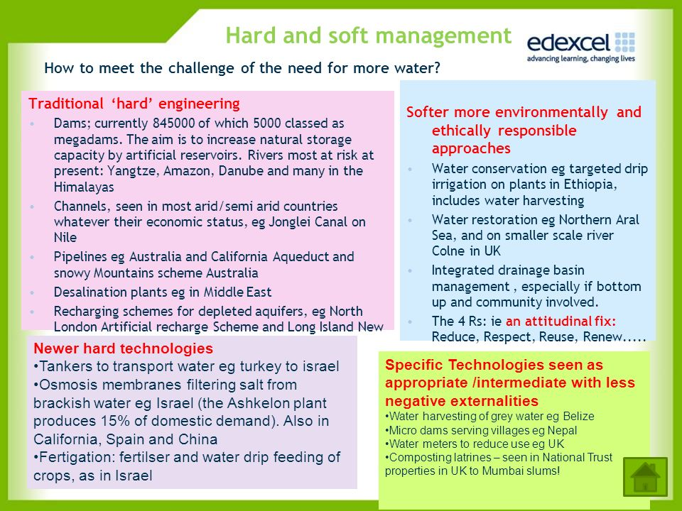 Hard and soft management