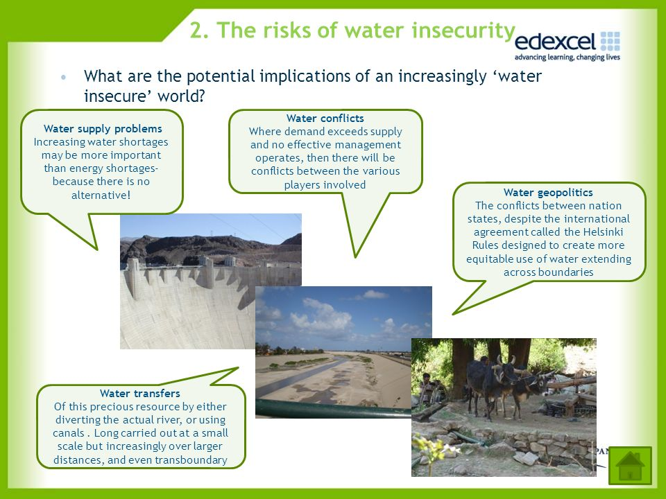 2. The risks of water insecurity